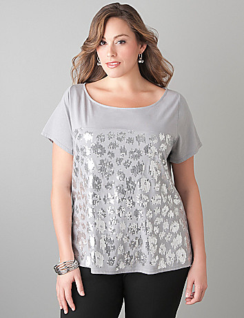 Animal sequin tee by Lane Bryant