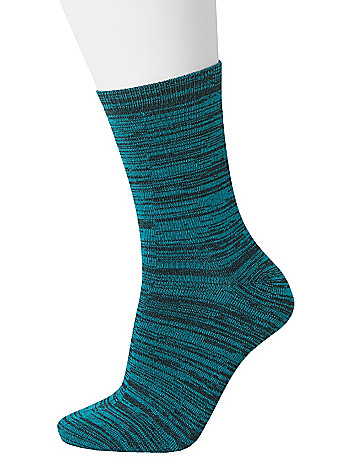 Space dye crew sock duo by Lane Bryant
