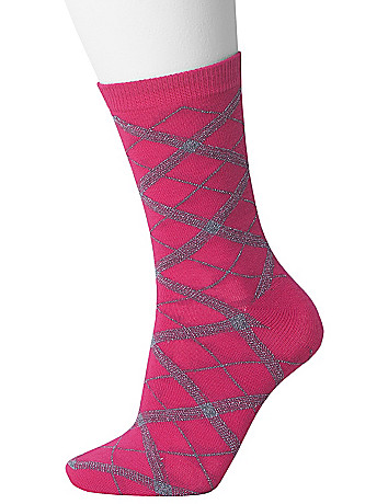 Argyle & solid 2-pair sock duo by Lane Bryant