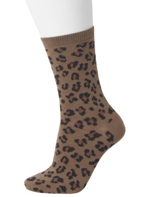 Animal print crew sock duo