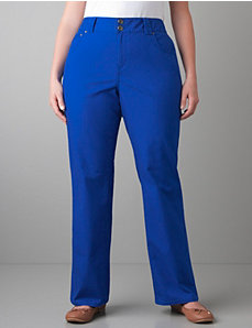 Colored straight leg jean with Tighter Tummy Technology by LANE BRYANT