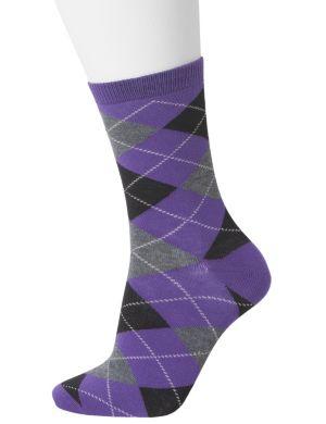 Argyle crew sock duo