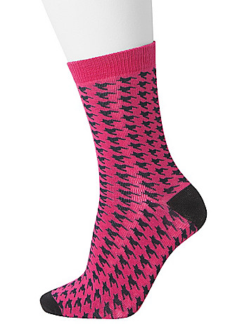 Houndstooth crew sock duo by Lane Bryant