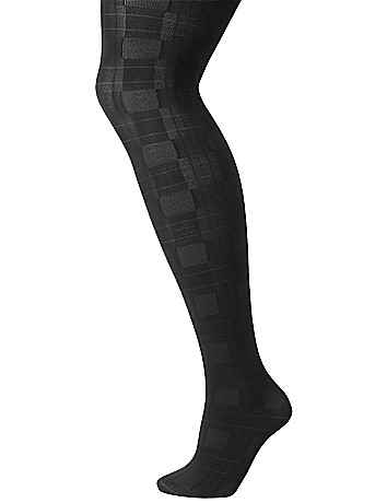 Plaid tights by Lane Bryant