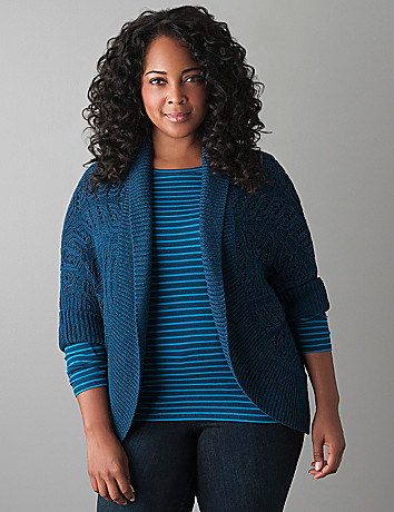Plus size cocoon sweater by Lane Bryant