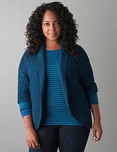 Cocoon sweater by Lane Bryant