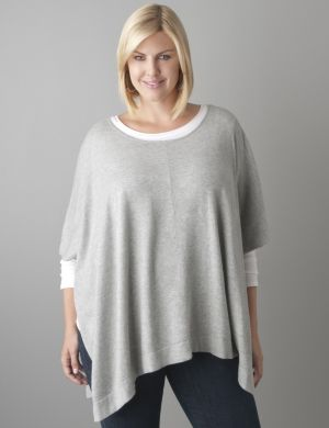 Scoop neck poncho