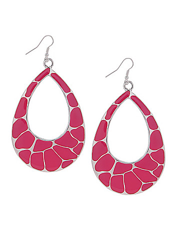 Color wave teardrop earrings by Lane Bryant