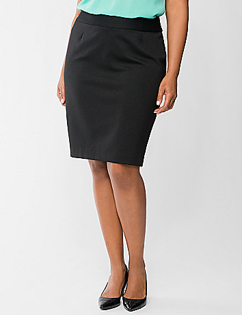 Ponte knit pencil skirt by Lane Bryant