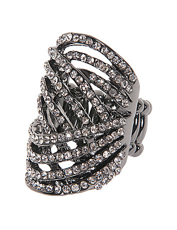 Crystal Swirl Ring by Lane Bryant