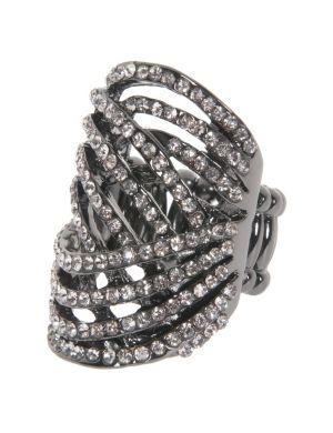Crystal swirl ring by Lane Bryant
