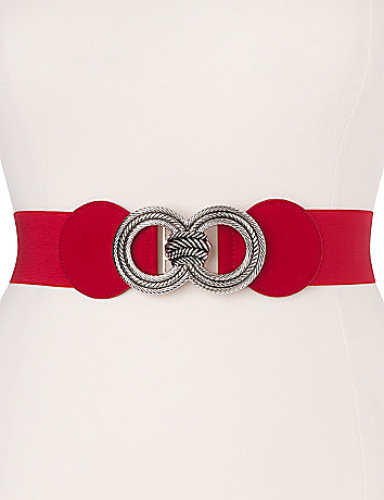 Knotted buckle stretch belt by Lane Bryant