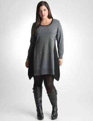Sharkbite sweater tunic dress