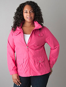 Plus Size Packable Nylon Jacket by Lane Bryant