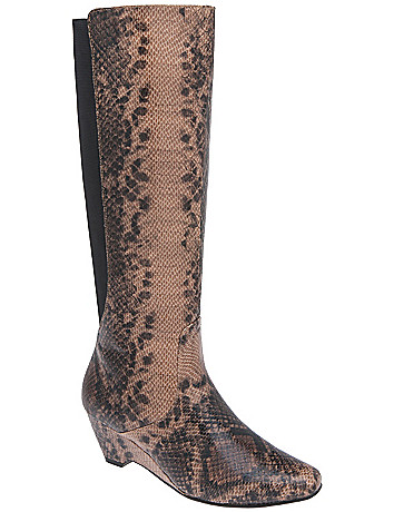 Snakeskin wedge boot by Lane Bryant