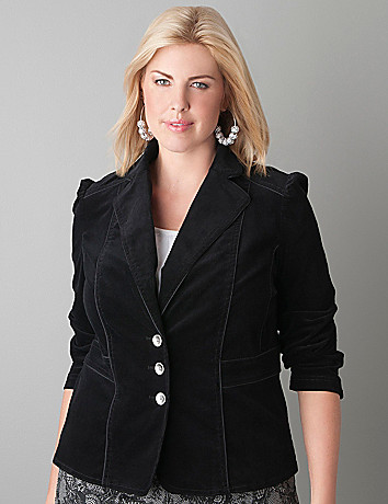 Full Figure Corduroy Blazer by Lane Bryant