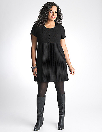 Short sleeve sweater dress by Lane Bryant