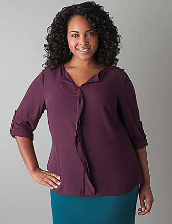 Ruffled front blouse by Lane Bryant