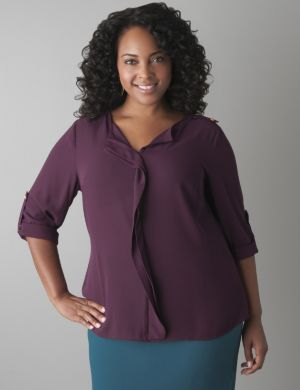 Ruffled front blouse