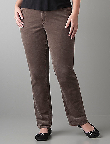 Straight leg corduroy Pant by Lane Bryant