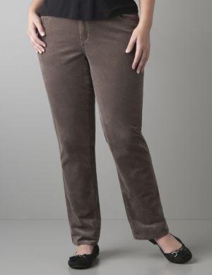 Straight leg corduroy pant