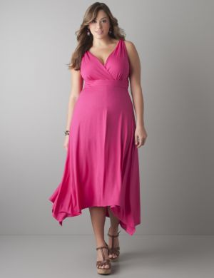 Shark bite hem maxi dress
