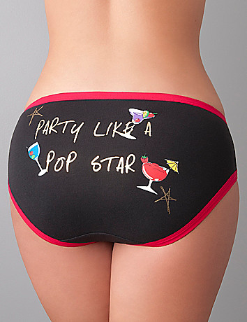 Pop Star cotton hipster panty by Cacique