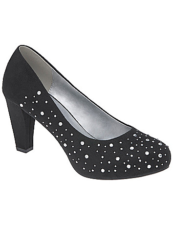 Rhinestone heel by Lane Bryant