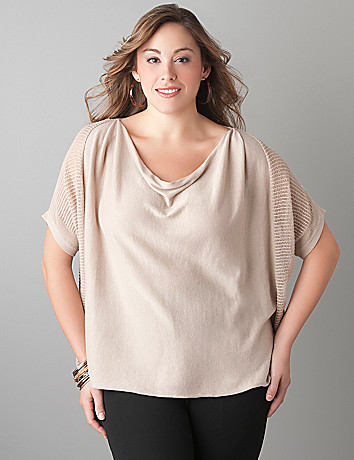 Drop stitch dolman sweater by Lane Bryant