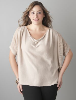 Drop stitch dolman sweater