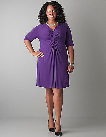 Plus Size Twist Front Knit Dress by Lane Bryant