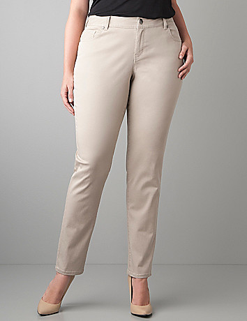 Genius Fit skinny twill pant by Lane Bryant