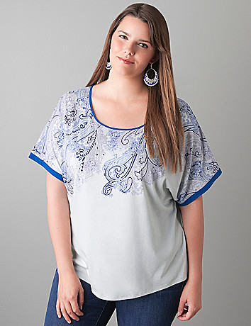 Paisley dolman top by Lane Bryant