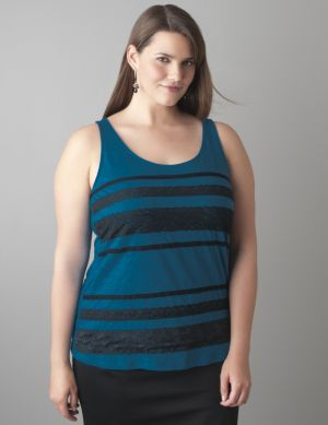 Lace stripe tank