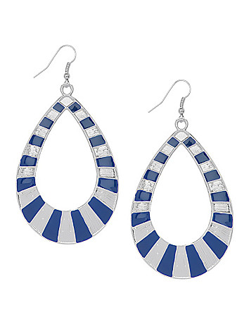 Striped teardrop earrings by Lane Bryant