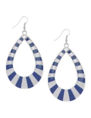 Striped teardrop earrings by Lane Bryant