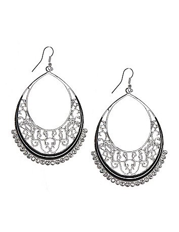 Filigree teardrop earrings by Lane Bryant