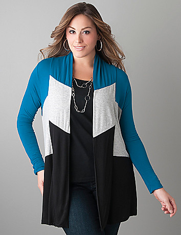 Colorblock knit overpiece by Lane Bryant
