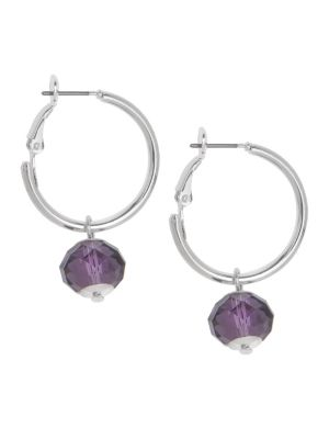 Mini hoop earrings with bead by Lane Bryant