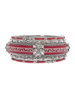 Cubic zirconium 6 row bangle bracelet set by Lane Bryant