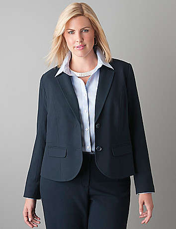 Banded waist jacket by Lane Bryant