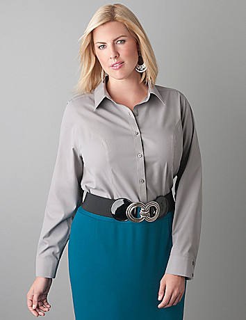 Non iron long sleeve shirt by Lane Bryant