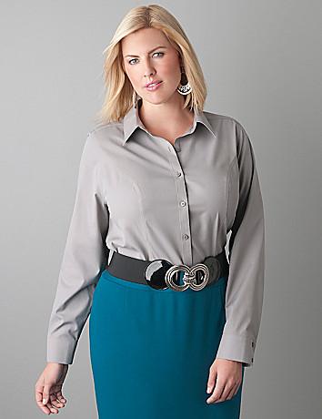 Non iron long sleeve shirt by Lane Bryant