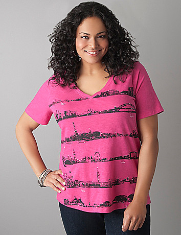 Cities skyline tee by Lane Bryant
