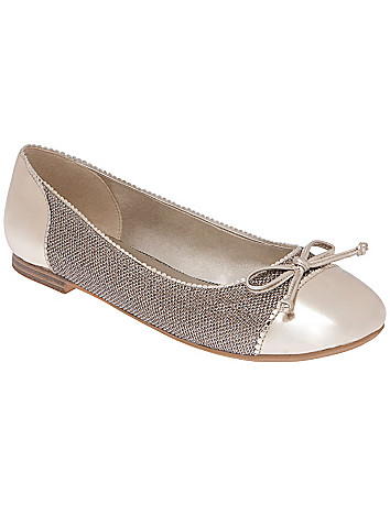 Metallic mesh flat by Lane Bryant