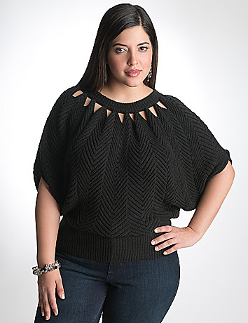Plus Size Dolman Wedge Sweater