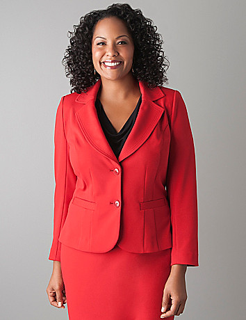Plus Size Ponte Knit Jacket by Lane Bryant