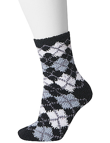 Argyle cozy sock 2-pair duo by Lane Bryant