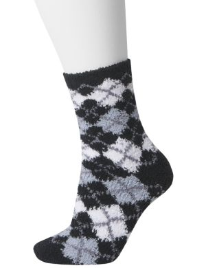Argyle cozy sock 2-pair duo
