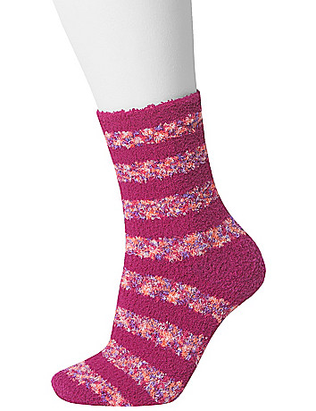 Striped cozy sock 2-pair duo by Lane Bryant